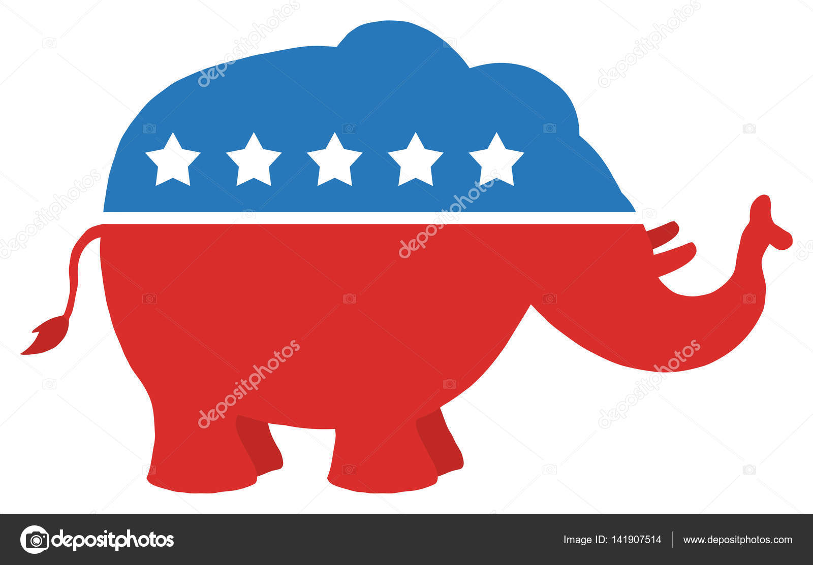 republican elephant illustration stock vector hittoon 141907514 rh depositphotos com  republican elephant vector clip art free