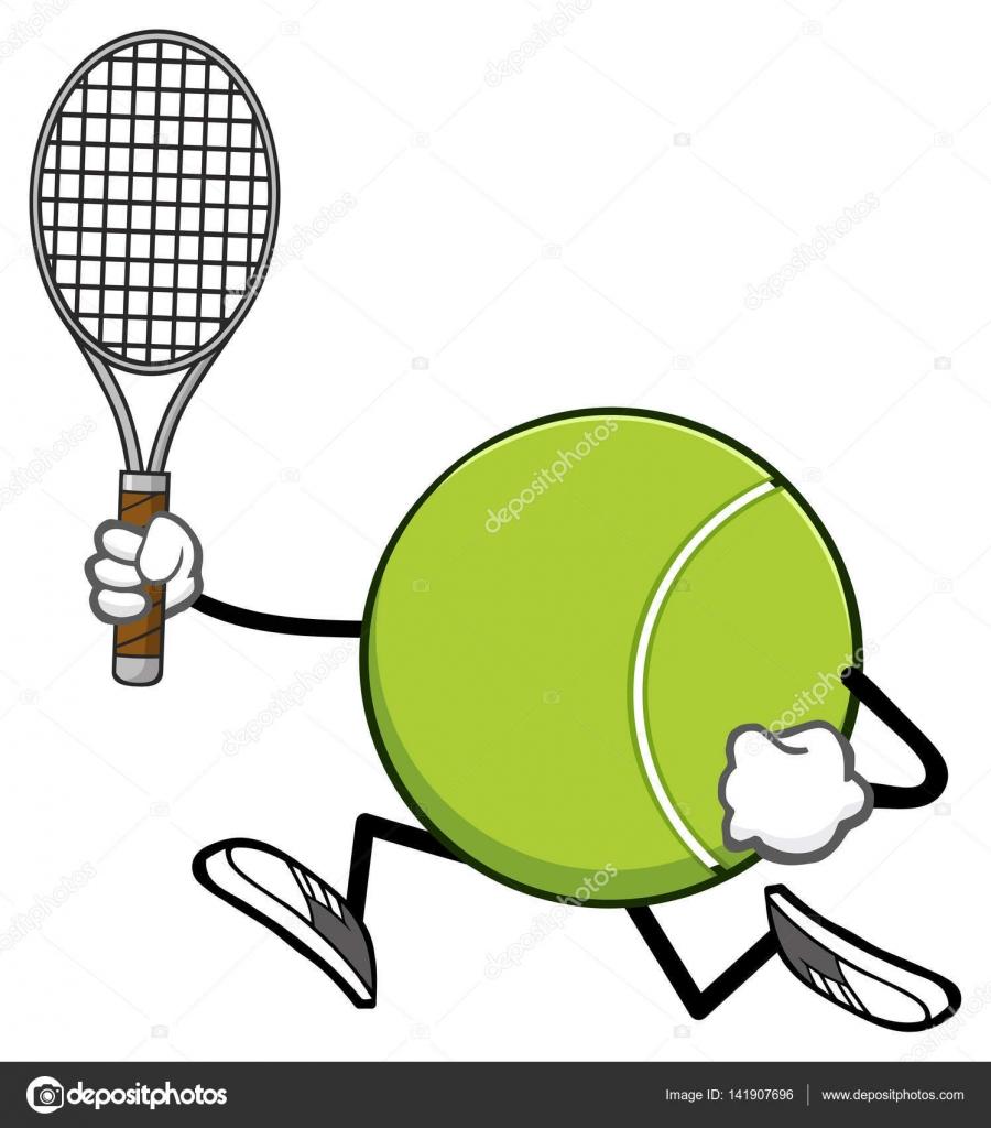 Tenis pelota stock de ilustracion ilustracion libre de stock de - Personaje De Dibujos Animados Sin Rostro De Pelota De Tenis Con Raqueta Ilustraci N De Vectores Aislado Sobre Fondo Blanco Vector De Hittoon