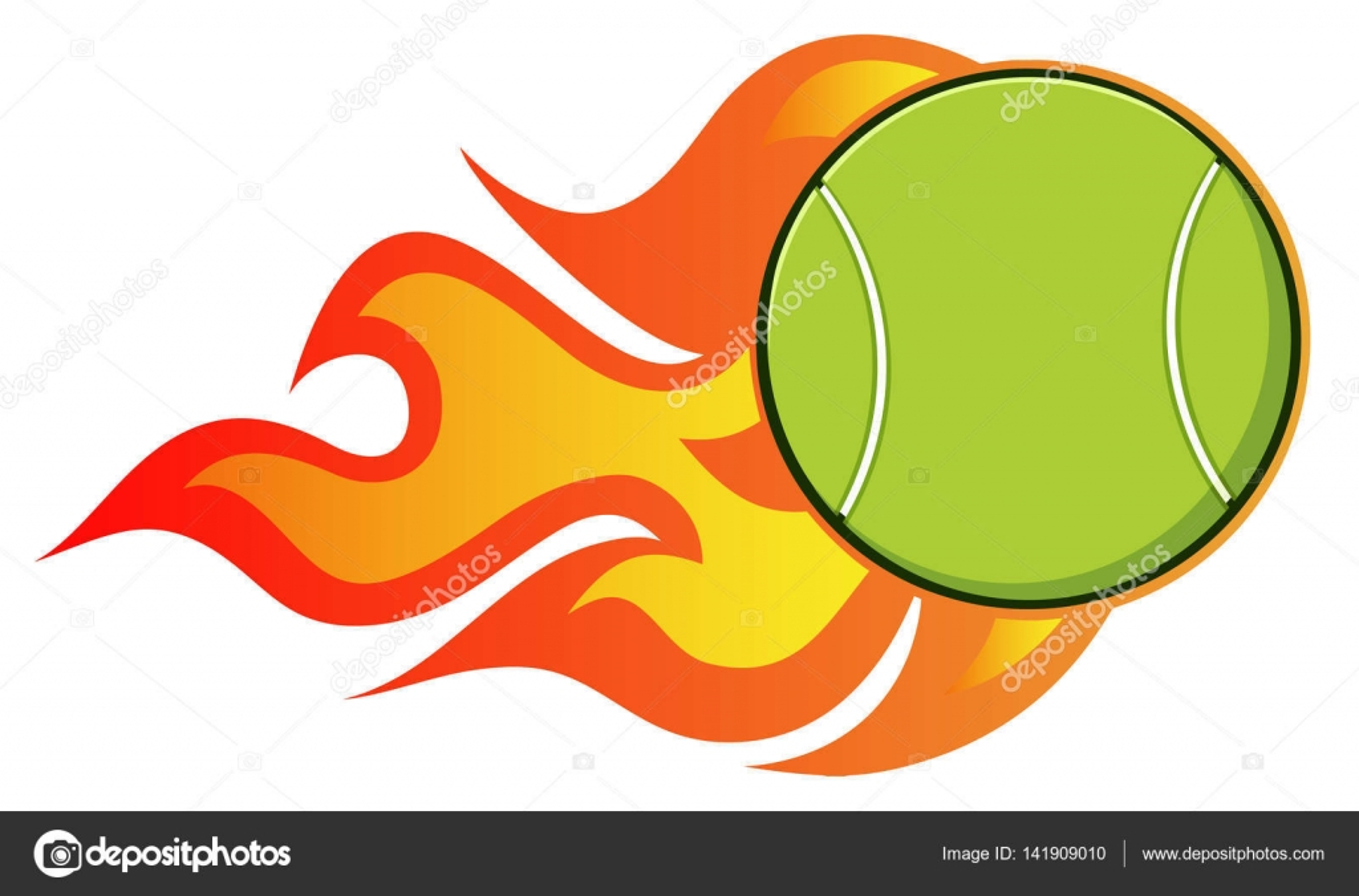 Tenis pelota stock de ilustracion ilustracion libre de stock de - Dibujos Animados De Bola De Tenis Vector De Stock 141909010