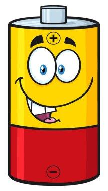 Cute Battery Cartoon Mascot Character