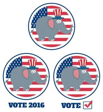 Republican Elephant Cartoon Character