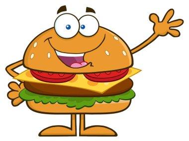 Burger Cartoon Mascot Character