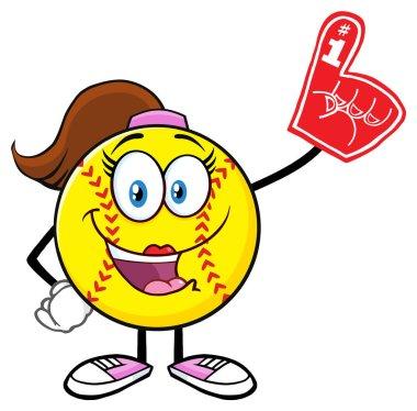 Softball Girl Cartoon