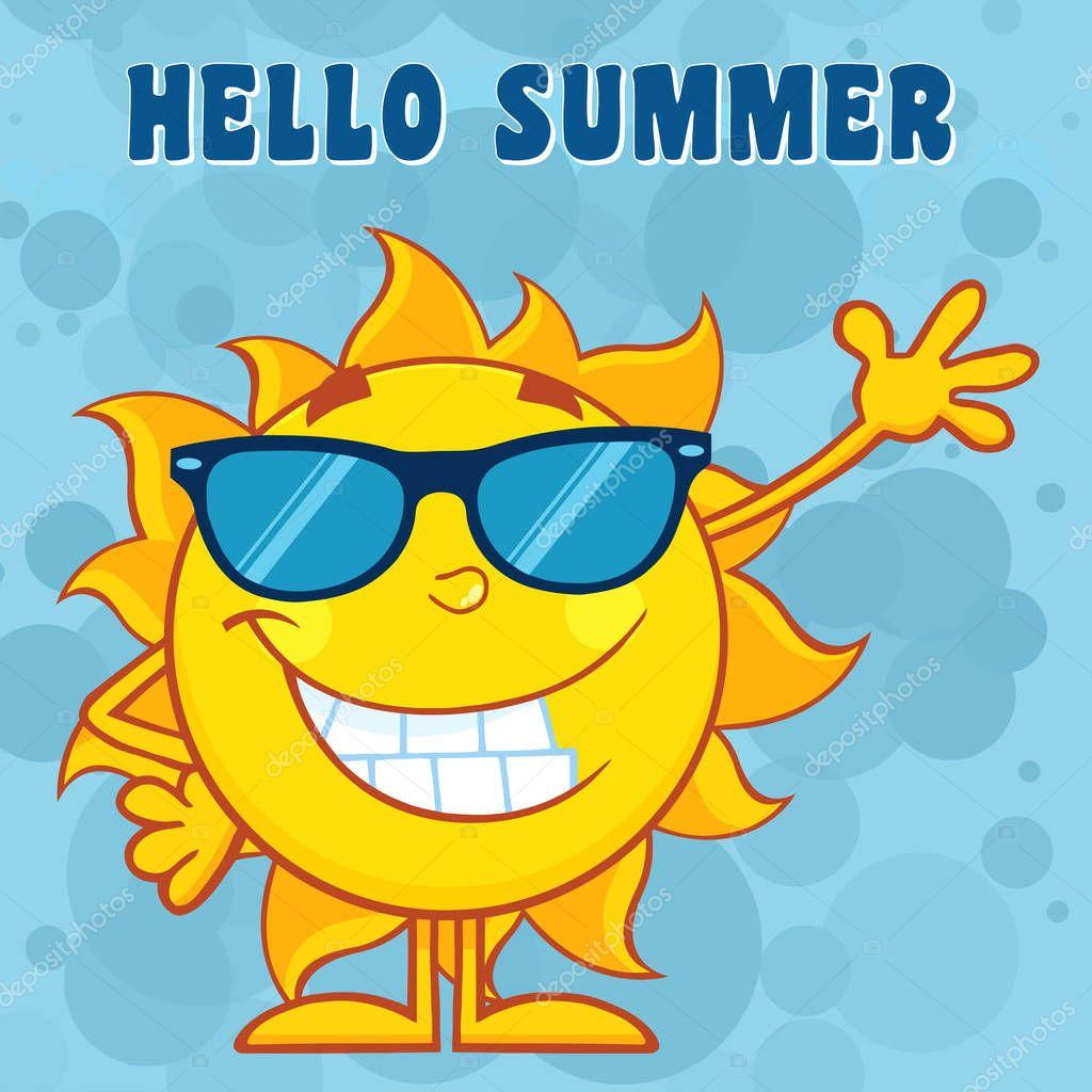 Happy Sun Cartoon Mascot Character