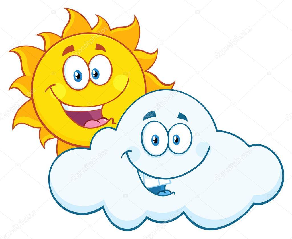 Animado: Sol Sonriente Con Nubes