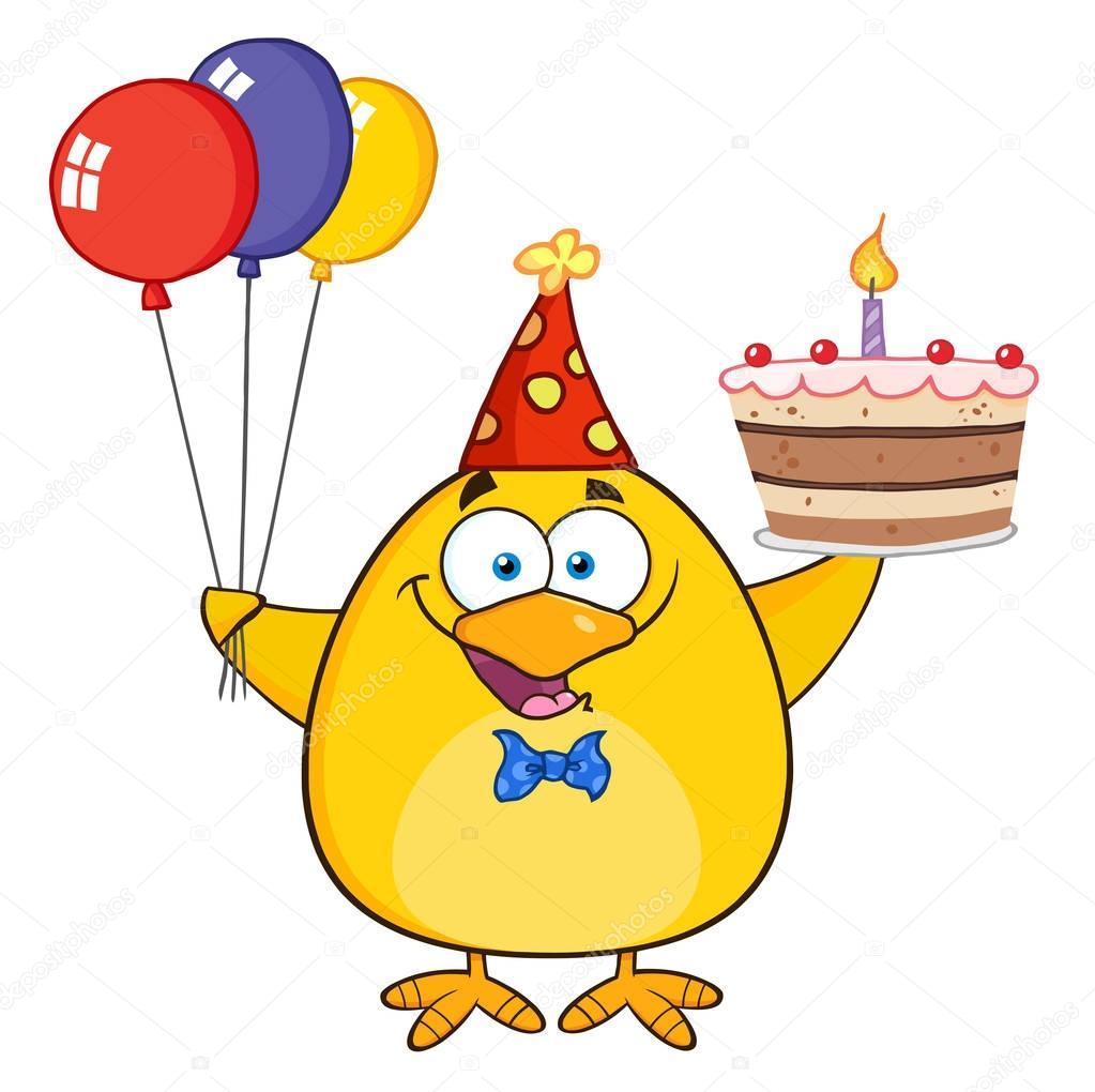Картинки с днем рождения с цыпленком