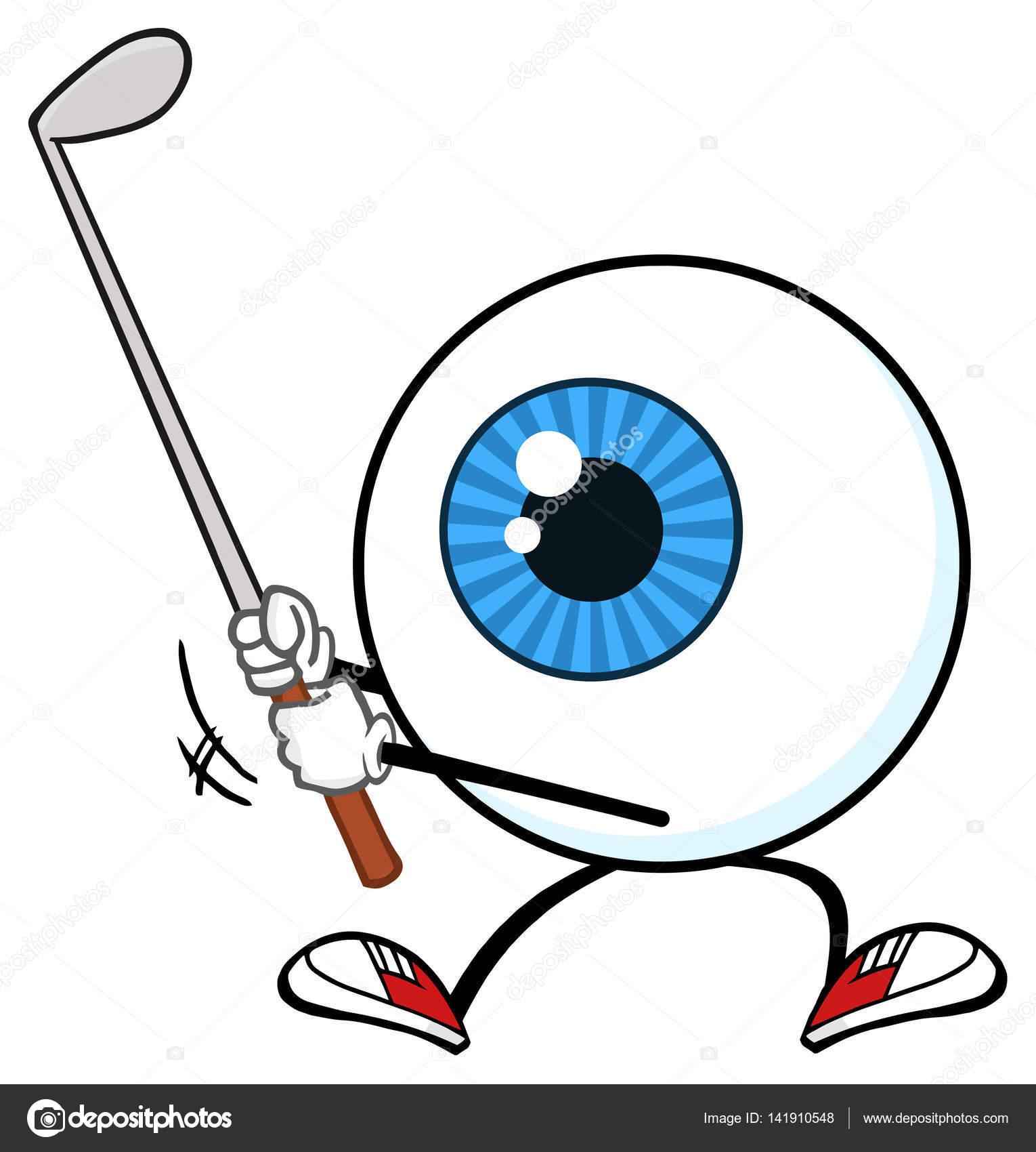 Dibujos animados de chico de globo ocular — Archivo Imágenes ...