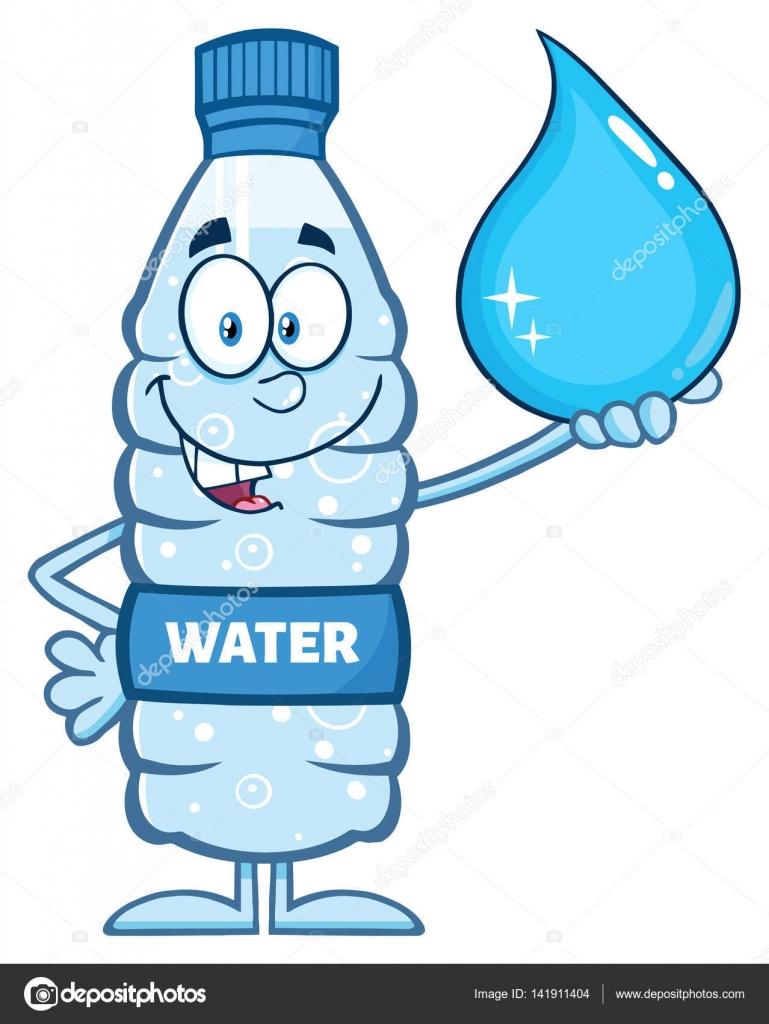 Botella De Agua Dibujos animado...