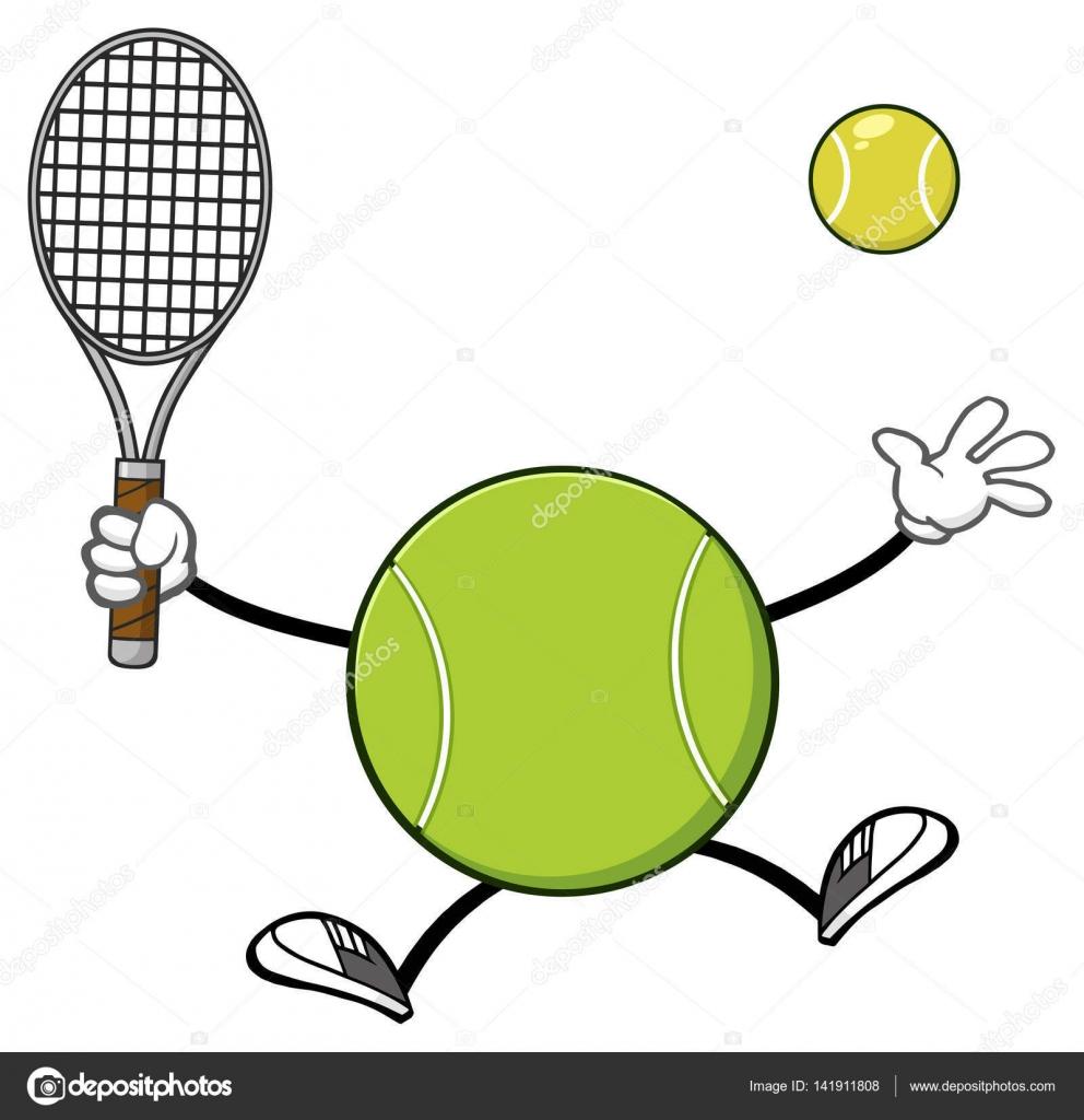 Tenis pelota stock de ilustracion ilustracion libre de stock de - Tenis Pelota Jugador Sin Rostro Mascota Personaje De Dibujos Animados Con Raqueta Y Pelota De Tenis Ilustraci N De Trama Aislada Sobre Fondo Blanco