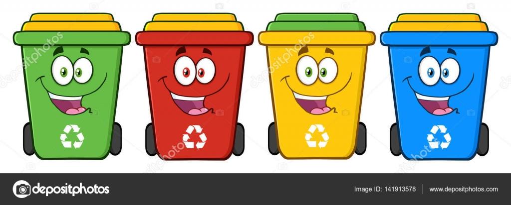 Imágenes: Botes De Reciclaje Animados