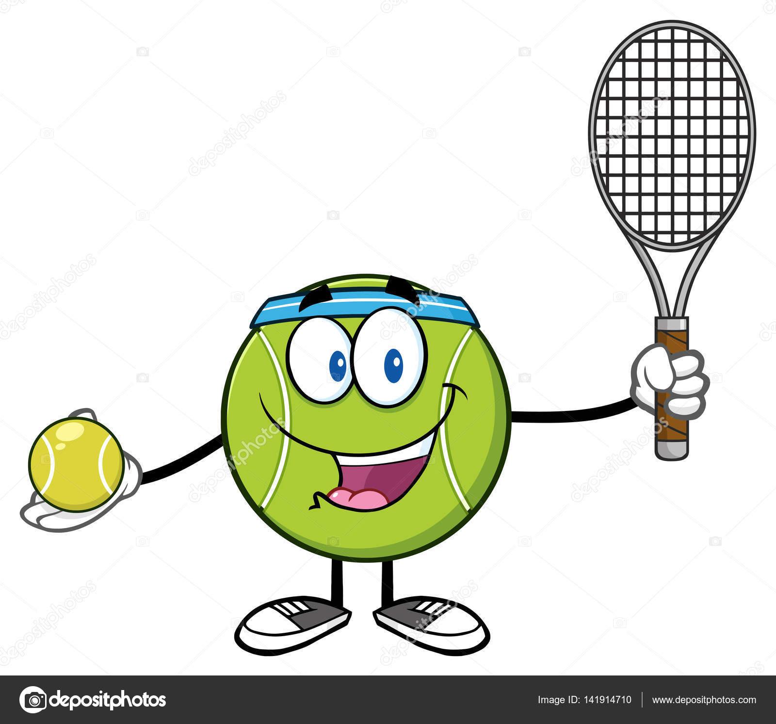 Tenis pelota stock de ilustracion ilustracion libre de stock de - Tenis Ball Personaje De Dibujos Animados Jugador Con Raqueta Y Pelota De Tenis Ilustraci N Raster Aislado En Blanco Vector De Hittoon