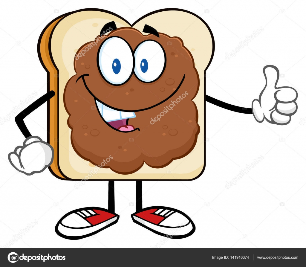 Cartone animato di fetta pane — vettoriali stock