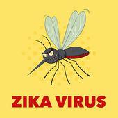 Fotografie Mosquito Comicfigur fliegen