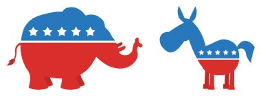 Elephant Republican Vs Donkey Democrat