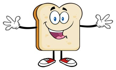 Bread Cartoon Character