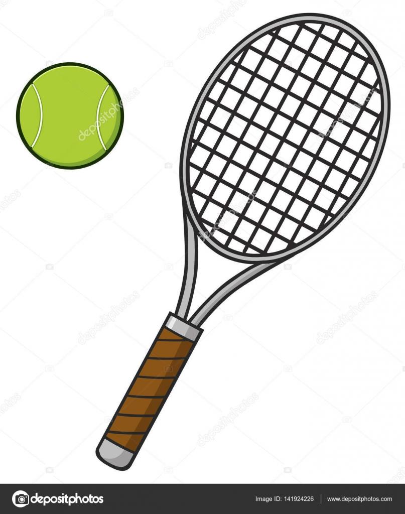 Tenis pelota stock de ilustracion ilustracion libre de stock de - Raqueta Y Pelota De Tenis De Dibujos Animados Vector De Stock 141924226