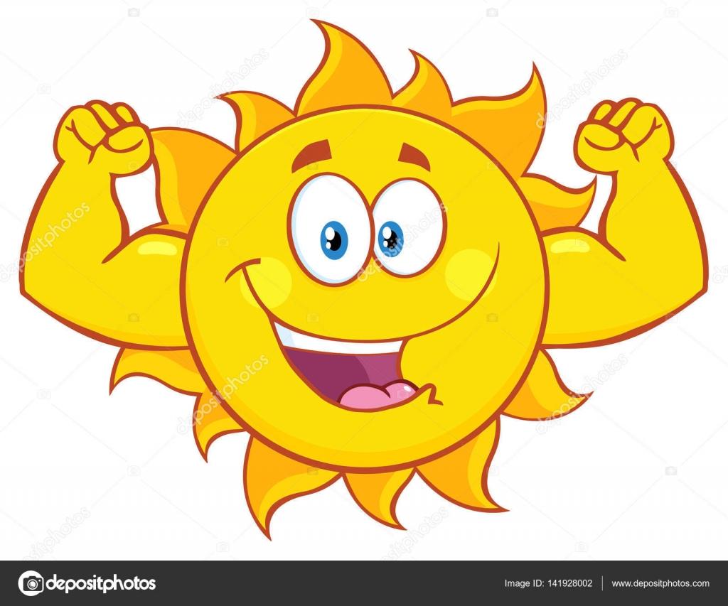 Dibujos Animados De Sol Feliz