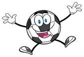 Fotbalový míč kreslený maskot