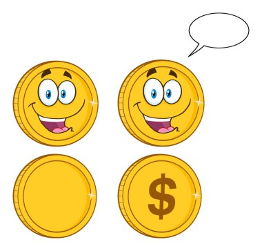 Golden Coins Cartoon Character