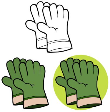 Green Gardening Hand Gloves