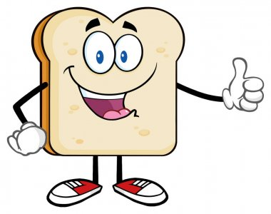 Bread Slice Cartoon