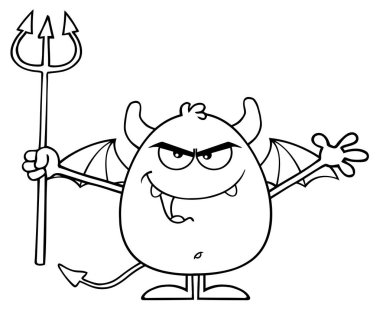 Angry Devil Cartoon Character