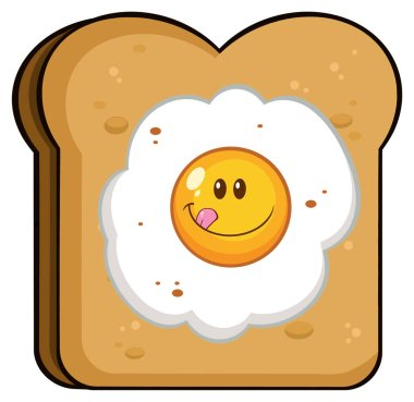 Toast Bread Slice With Egg