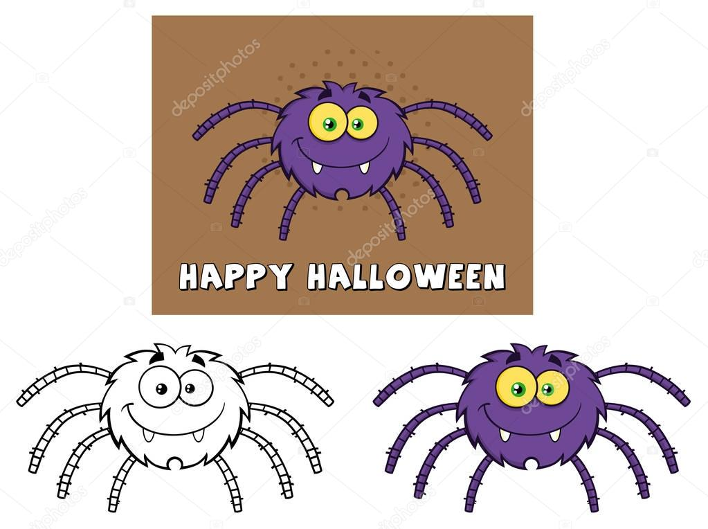 Funny Spider Cartoon Character.