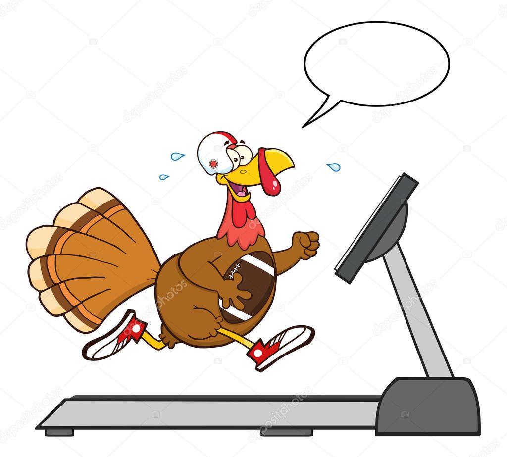 Football Turkey Bird Cartoon Character