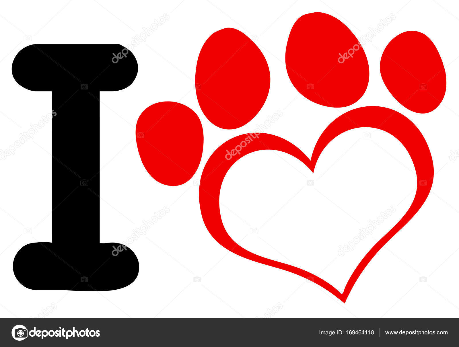 paw print logo stock vector hittoon 169464118 rh depositphotos com paw print logo for hermitage pa paw print logos and names
