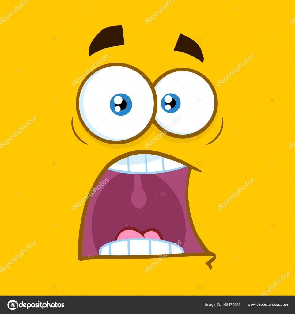 shocked cartoon face — stock vector © hittoon #169470638