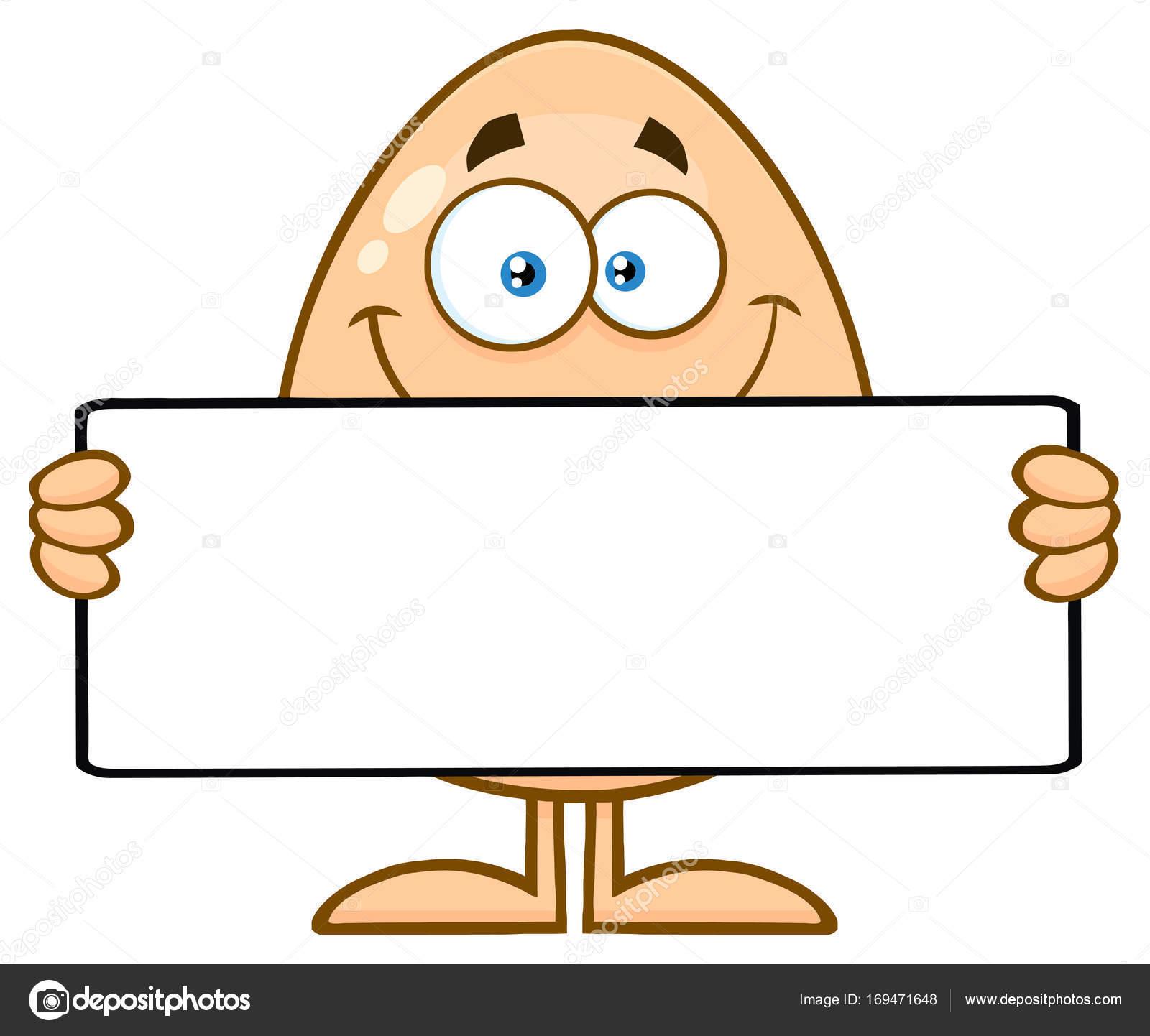 Ei-Charakter mit leere Schild — Stockvektor © HitToon #169471648