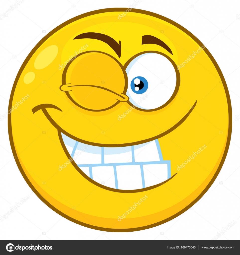 Cartone animato viso sorridente — vettoriali stock