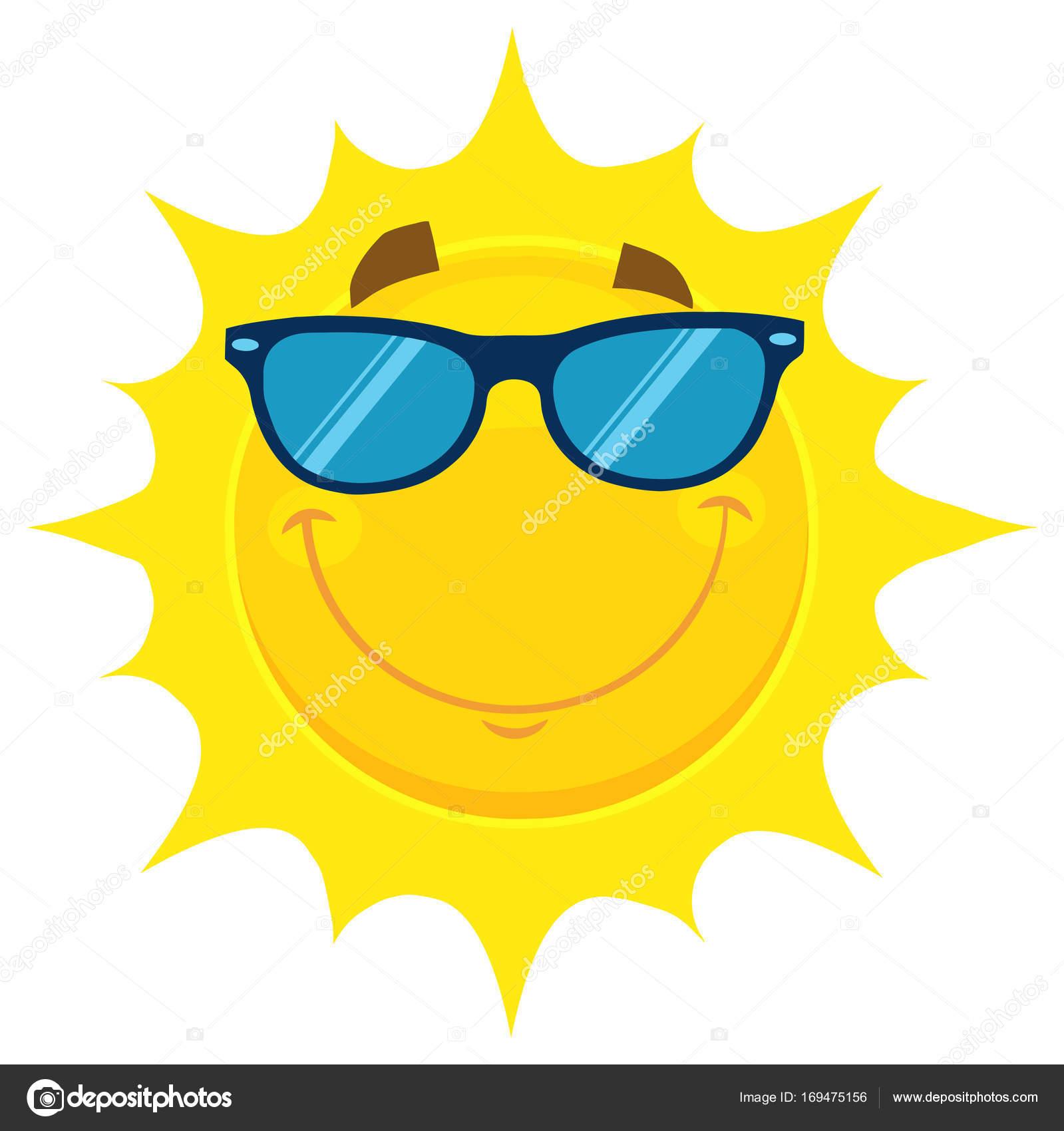 1017a527fcd1 Мультфильм солнце в солнцезащитные очки — Векторное изображение ...