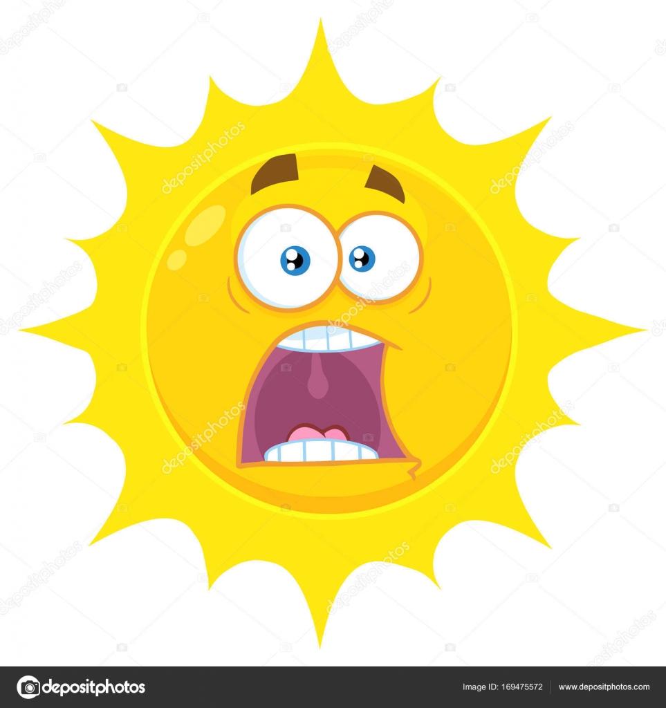 Korkmuş çizgi Film Güneş Stok Vektör Hittoon 169475572