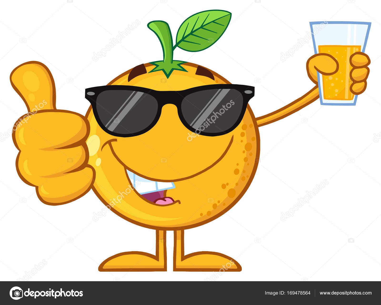 Personaje De Dibujos Animados De Frutas Naranja