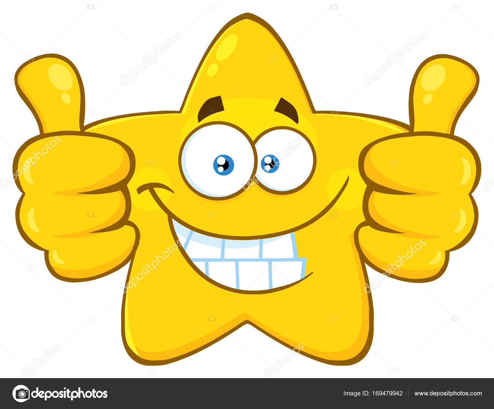 Žlutá Hvězda Kreslená Postavička