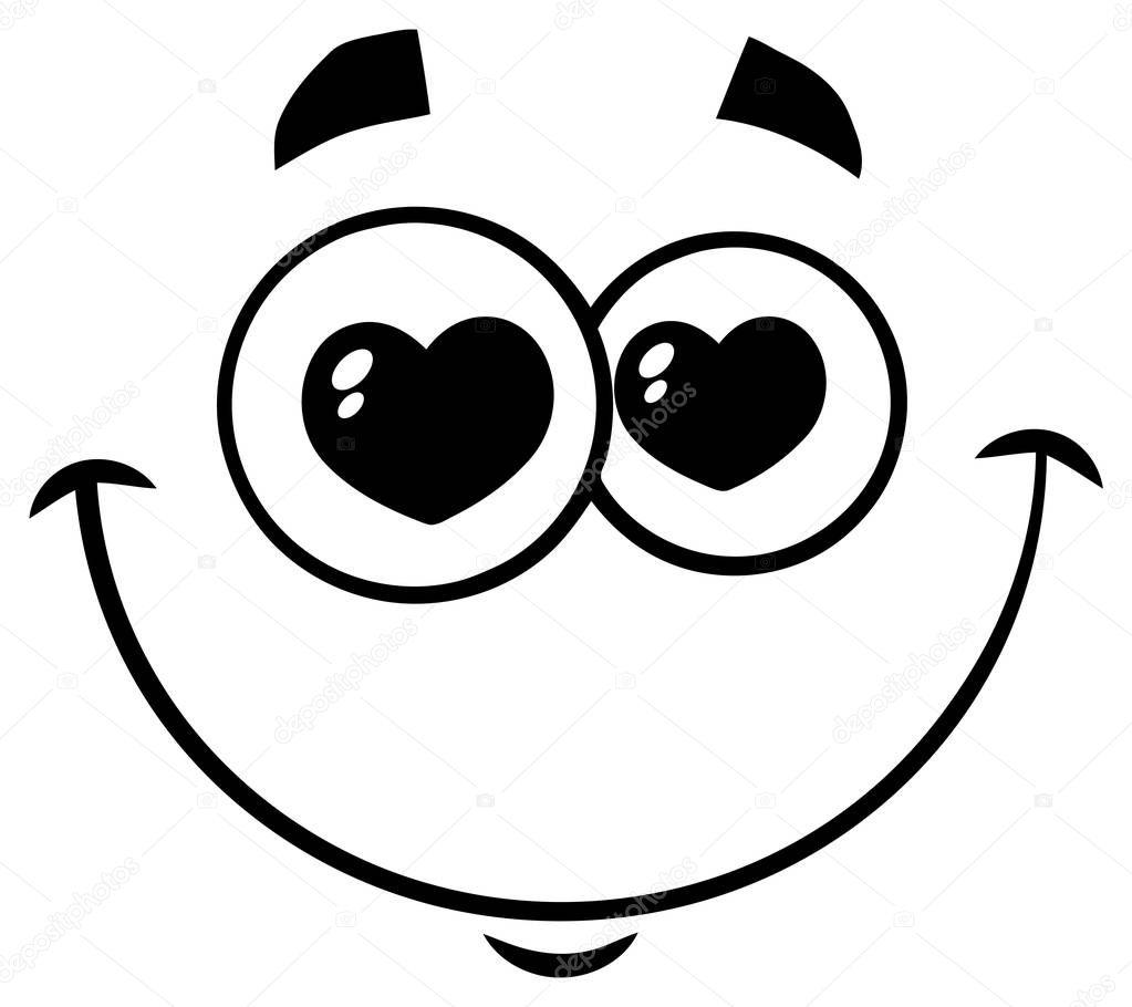 Vector: caritas | Carita con ojos de corazones — Vector de ...