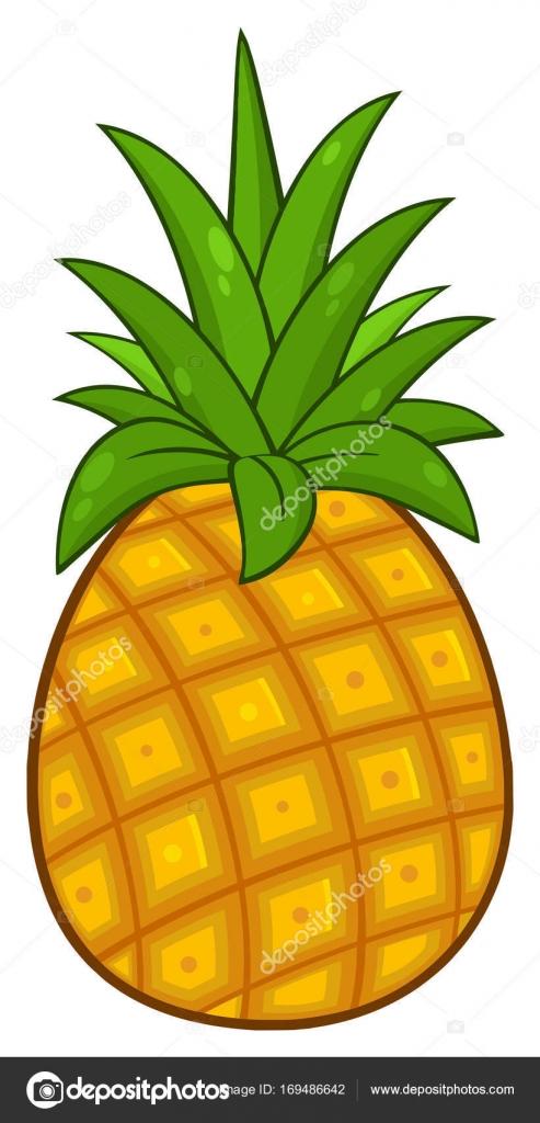 Conception Simple D Ananas Image Vectorielle Hittoon