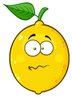 Nervous Lemon Cartoon Face