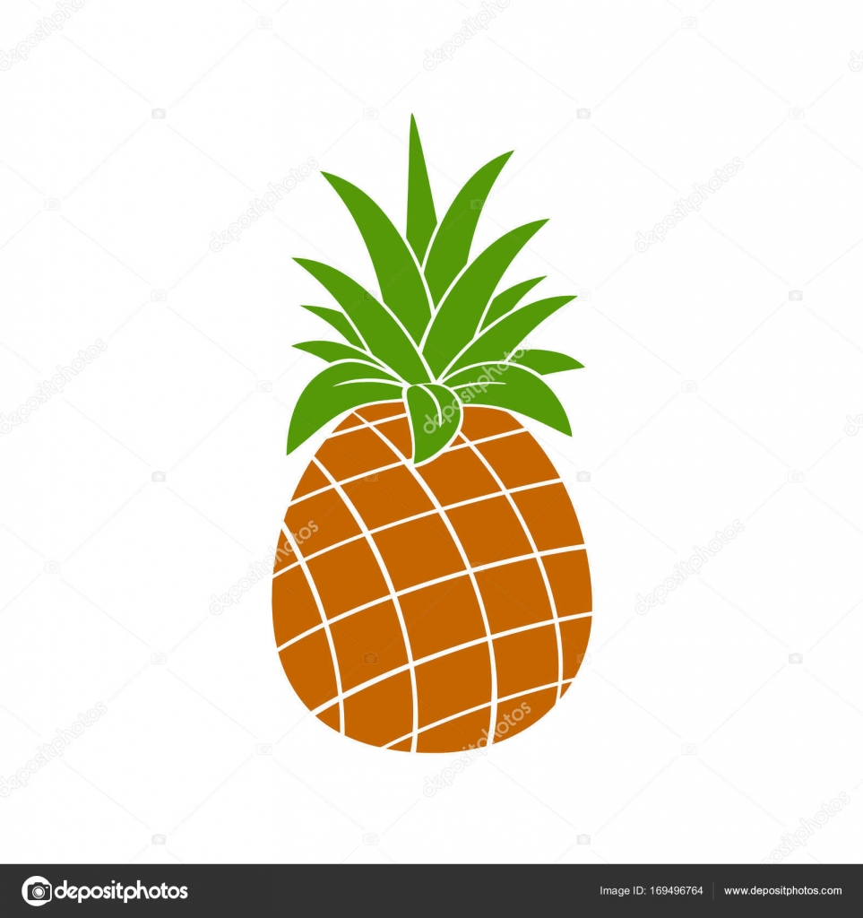 Ananas Simple Silhouette Image Vectorielle Hittoon