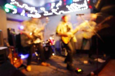 Nightclub theme blur background .