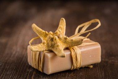 Bars of handmade soap