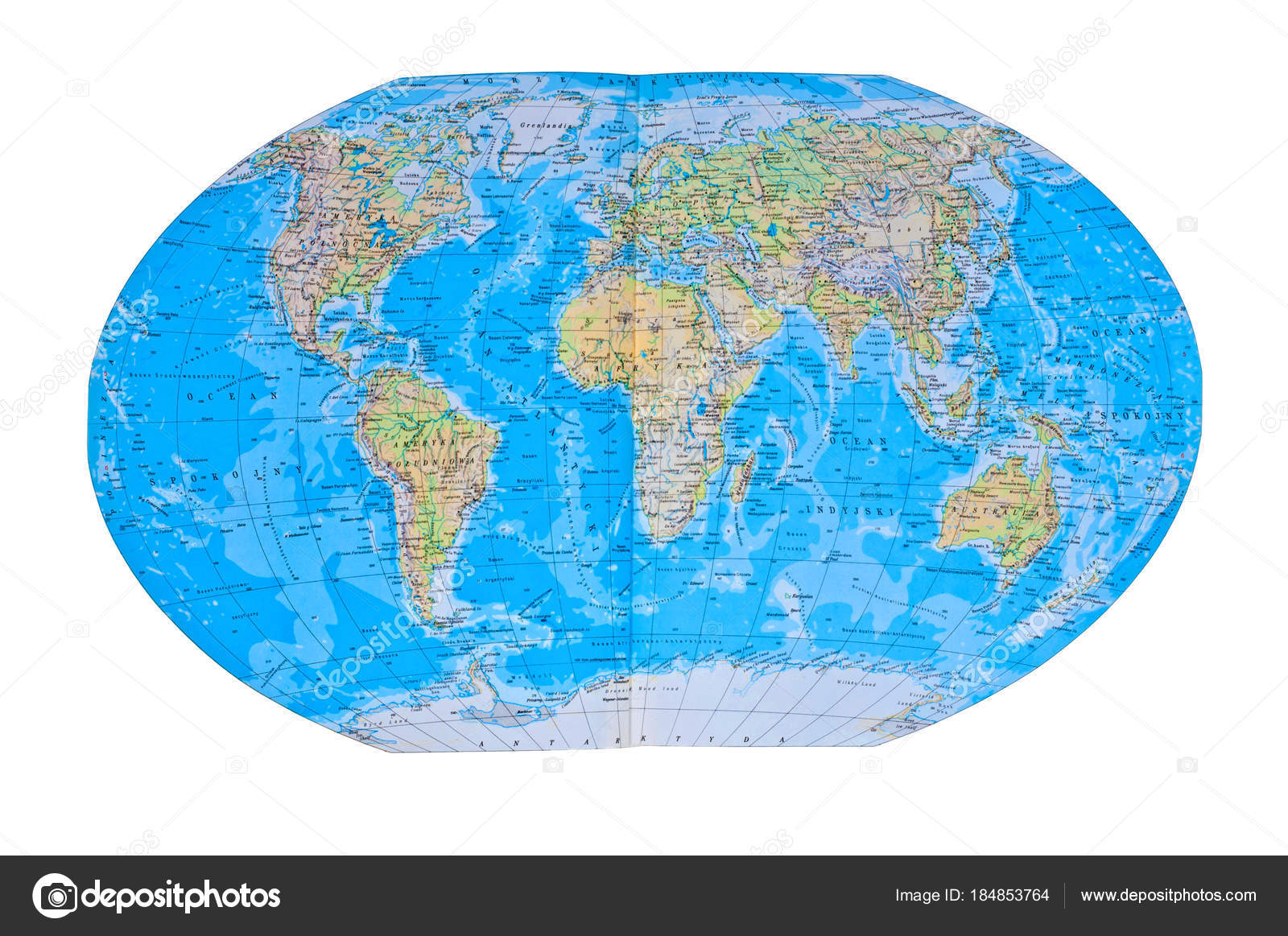 Detailed World Map all Names of Countries, — Stock Photo ...
