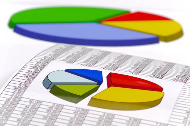 financial chart and data of stock market