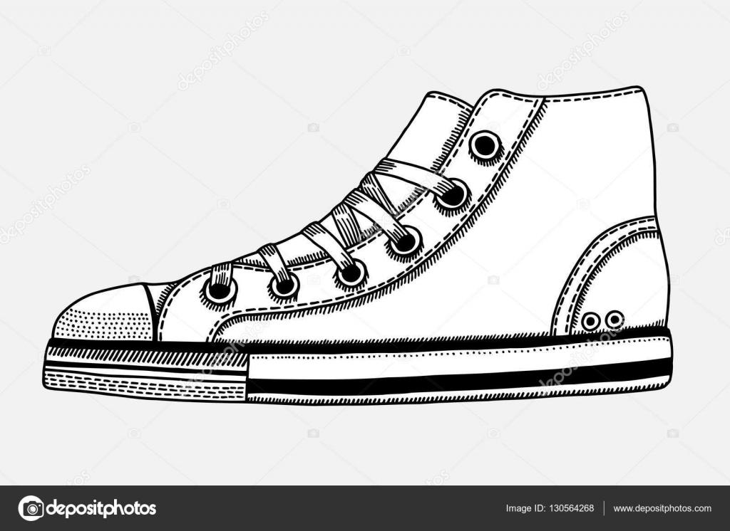 — A Mano Disegnato Sportive Schizzo Scarpe Vettoriali Di Stock iOPukXTZ
