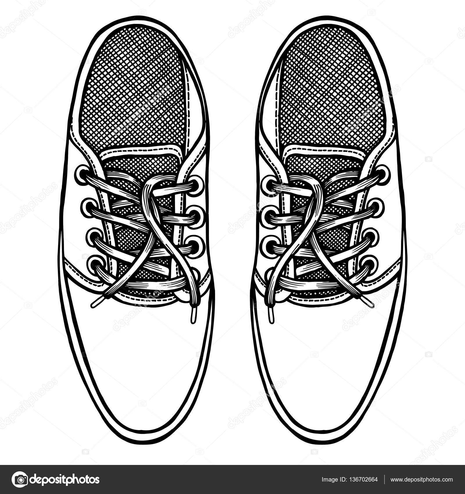 huge discount bdc17 ddff8 Skater-Schuhe. Ansicht von oben. — Stockvektor © frescomovie ...