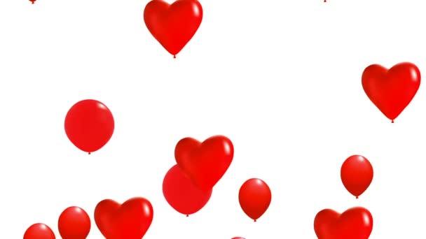 létající balónky červené