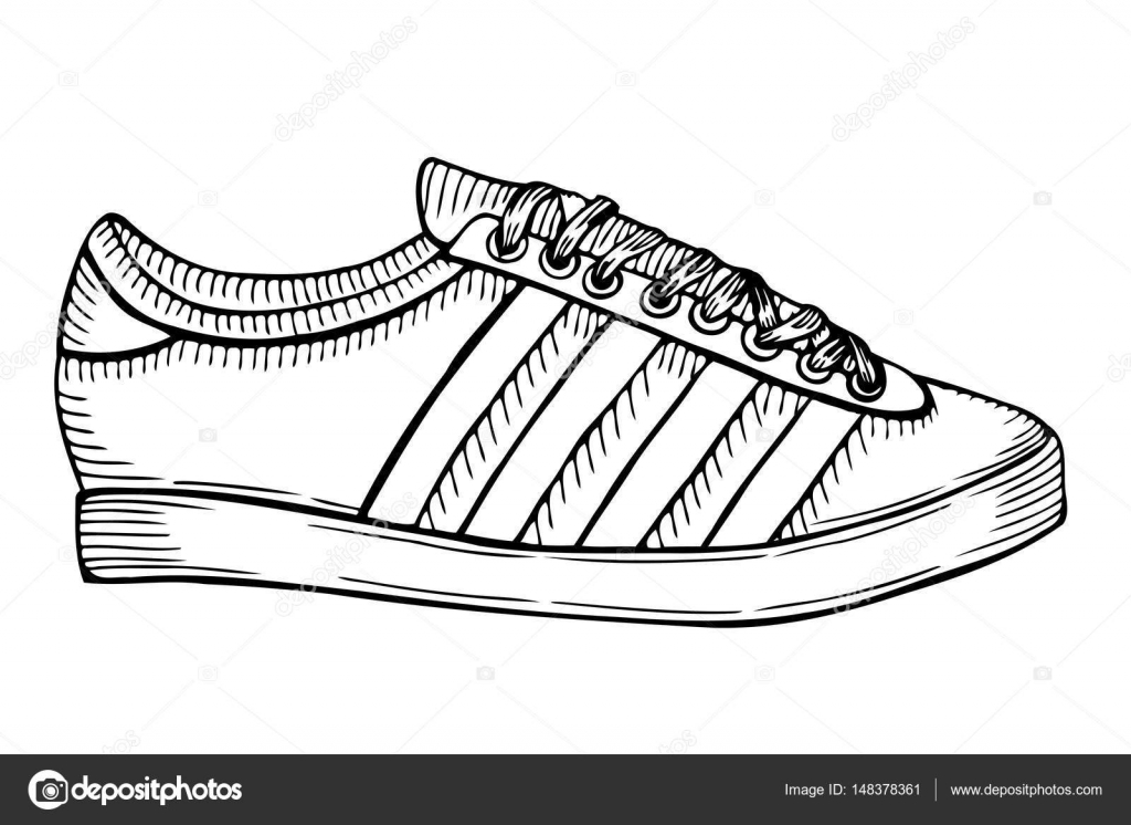 Deporte Zapatos — Boceto Dibujado Archivo Mano Imágenes De pxwxtzIq