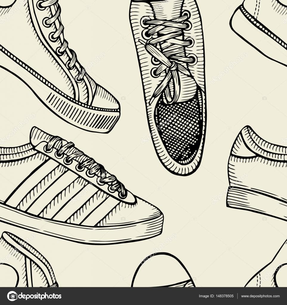 Modèle De Chaussures Chaussures De Sport Arrière Plan Image
